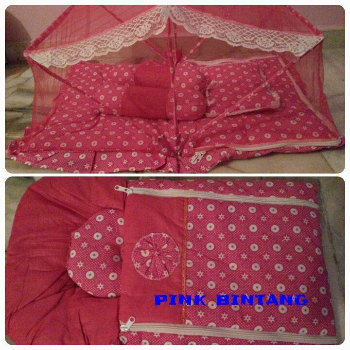 SET TILAM & BEDUNG PINK BINTANG - RM60.00